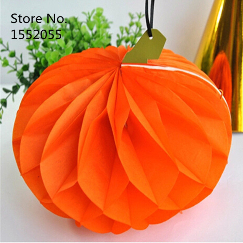 2015 Real Direct Selling Holiday Decoration & Gift Scrapbooking Scrapbooking Craft Paper Foldable Honeycomb Paper Pumpkin(China (Mainland))