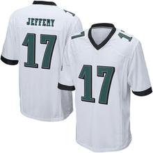 cheap Men's #17 Alshon Jeffery jerseys 100% Stitched Embroidery Logos Green Game Jerseys black green white fast shipping(China (Mainland))