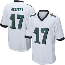 cheap wholesale Men's 17# Alshon Jeffery jerseys 100% Stitched Embroidery Logos Green Game Jerseys fast shipping(China (Mainland))