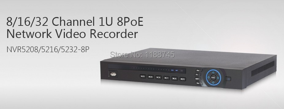 Dahua 8/16/32CH 1U recorder 1080p Realtime HDMI 8POE for Mobile phone IE Web browser Monitoring NVR5208/5216/5232-8P(China (Mainland))