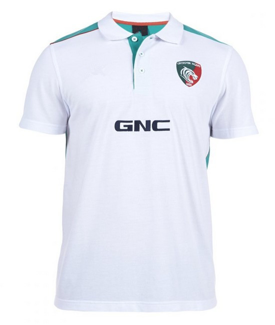 New 2014/15 Leicester Tigers Rugby Jersey Men White Rugby Jerseys LOGO Embroidery(China (Mainland))