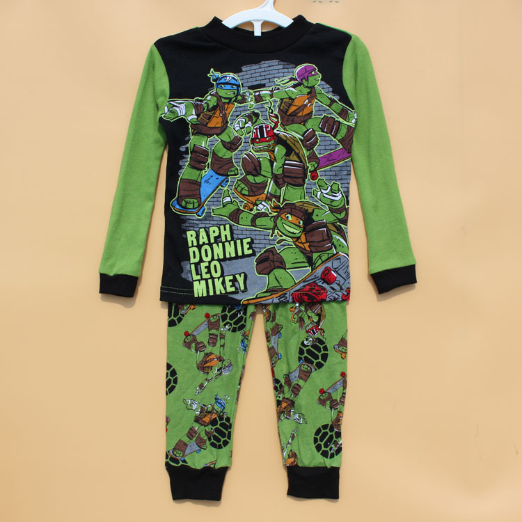 LUMINOUS PATTERN! Boy boys kids long sleeve spring autumn t shirt top + pants set pyjamas sleepwear childrens pajamas Pjs(China (Mainland))