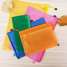 Waterproof zipper bag with internal split case office document bags school School Supplies pens and books storage bag(China (Mainland))