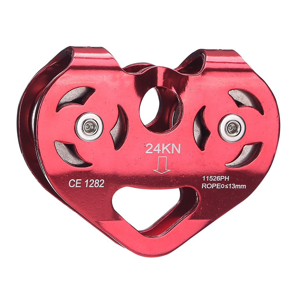 Double climbing pulley steel cable pulley blocks and rescue explorers pulley rock climbing equipment L-XDQJ-40(China (Mainland))