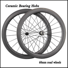 Buy 60mm Clincher Tubular Road Bike Carbon Wheels Ceramic Bearing R13 Hubs 700C Carbon Fiber Bicycle Racing Wheelset for $538.92 in AliExpress store