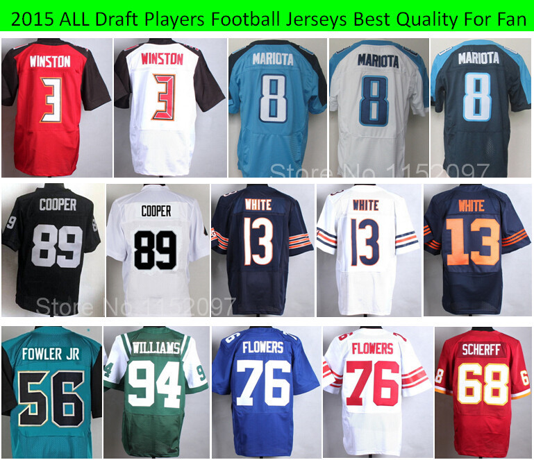 2015 Football Draft Jameis Winston,Marcus Mariota Jerseys,Dante Fowler Jr,Amari Cooper,Kevin White,Ereck Flowers,Scherff,William(China (Mainland))