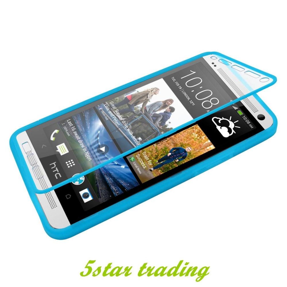 New Arriving Slim TPU Phone Cases For HTC One M7 Wrap Up Smart Cover Built In+Free Screen Protector Free Shipping(China (Mainland))