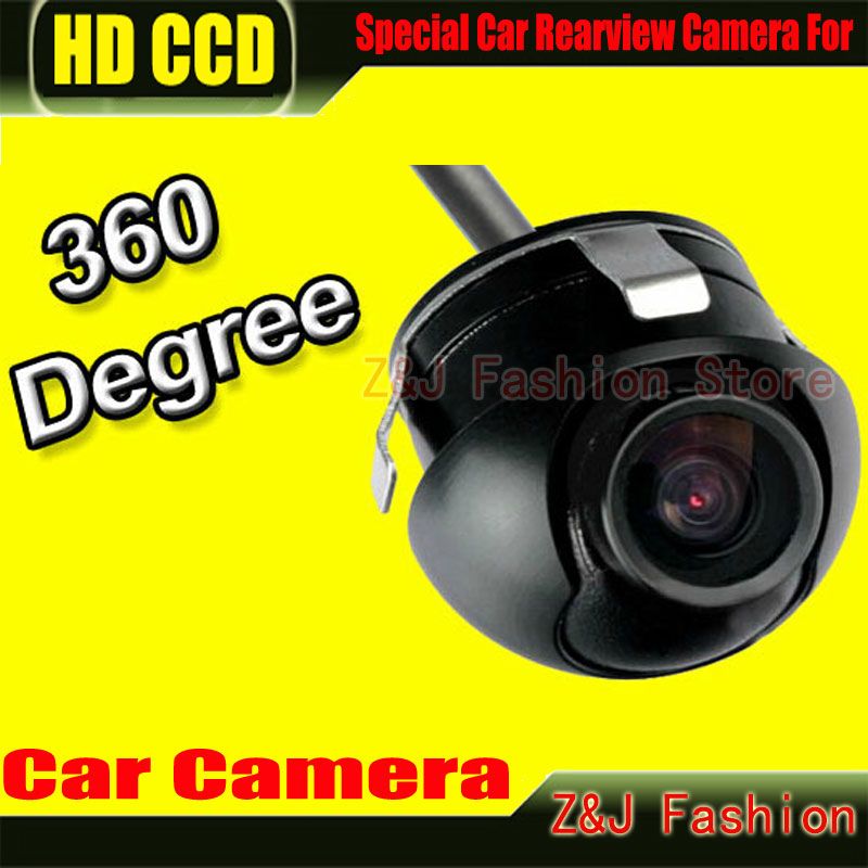 Factory Promotion CCD HD night vision 360 degree car rear view camera front camera front view side reversing backup camera ZJ(China (Mainland))