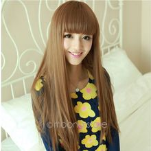 HOT !! Promotion 75cm(29.53inch) Women New Sexy Long Straight Full Hair Wigs For Cosplay Costume Party Brown Black Wine Red(China (Mainland))