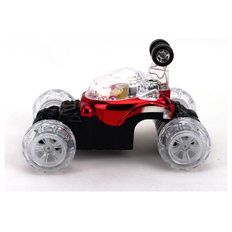 Gravity sensing remote control car flipped flashing musical stunt radio controlled toys car for boys children A3020967(China (Mainland))