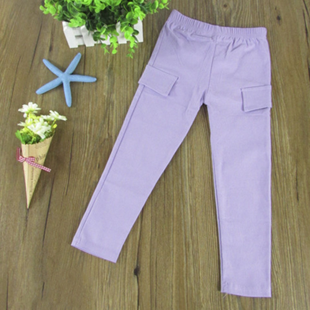 Toddler Baby Girls Skinny Slim Pencil Pants Casual Stretch Trousers Leggings