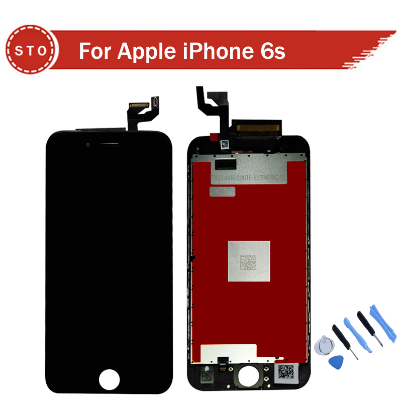For iPhone 6S LCD Display Touch Screen With Digitizer Assembly 4.7 inch Black white color Free Shipping