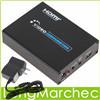 720P / 1080P FULL HD SCART To HDMI Video Converter Adapter Box Analog Video / YC / RGB Resolution Upscale Scaler Box(China (Mainland))