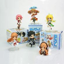 6pcs set Sword Art Online Fairy Dance Kirito Asuna Lefa PVC Action Figures Toys Collective Toys