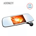 ADDKEY Magnet car dvr camera Rearview mirror Full HD 1080P dual lens car dvrs 5 inches