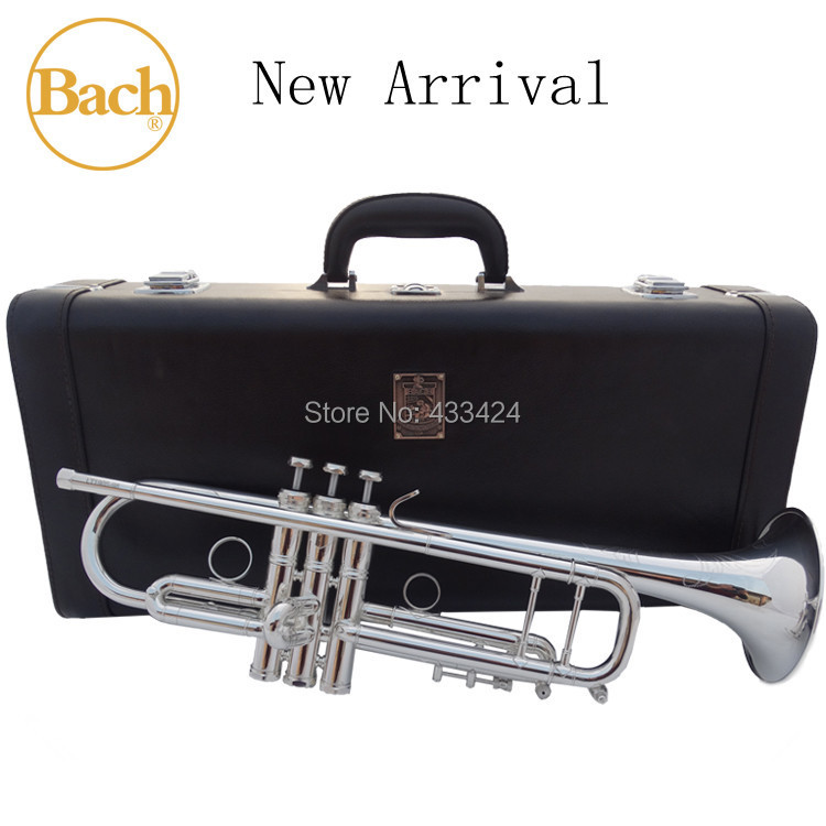 Taiwan Bach Original 5 times Silver-Plated LT190S98 Bb Professional trumpet HARD LEATHER Case Top musical instrument Brass bugle(China (Mainland))