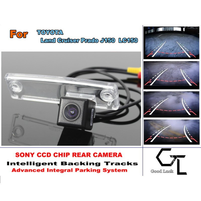 Smart Backing Tracks Camera / HD CCD Night Vision / Rear View Parking Reverse Camera For TOYOTA Land Cruiser Prado LC 150 LC150(China (Mainland))