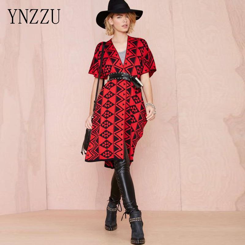 YNZZU New Women Cardigan Fashion Geometric Short Sleeve Cardigans Knitted Sweater Coat Elegant Jacket Femme Top YO062(China (Mainland))