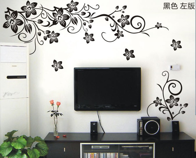 Awesome Flower Wall Designs For A Bedroom
