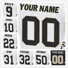100% Stitched With Customized Men's #31 Jairus #9 Drew #10 Brandin #22 Mark #32 Kenny #50 Stephone Elite White Black Football J(China (Mainland))