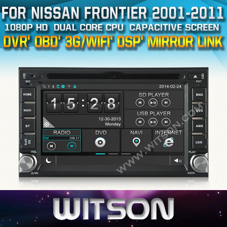 WITSON factory price!! car dvd for NISSAN QASHQAI Tiida PALADIN Frontier LIVANA NAVARA NP300 MICRA PATHFINDER+DSP+TPMS+DVR+WIFI(China (Mainland))