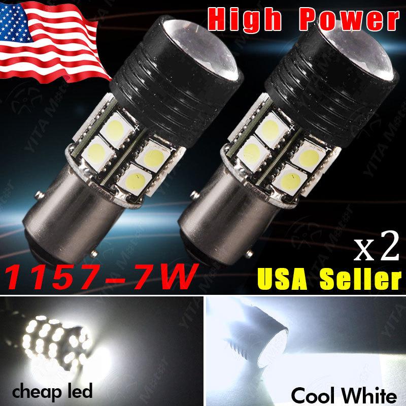 Hot Selling led Car Lights 1157 BAY15D 7W p21w LED Light Bulb 12V Red Yell White 7W Brake Tail Turn Signal Light Bulb Lamp(China (Mainland))