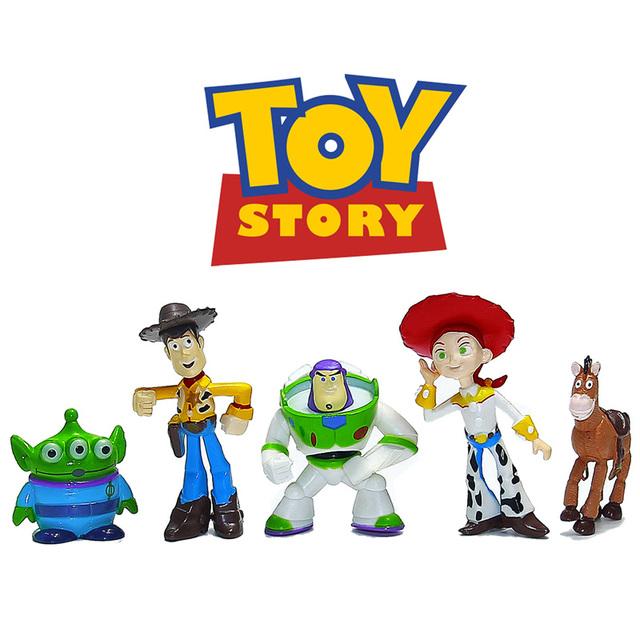 История игрушек 3 ну вечеринку базз лайтер вуди зеленый человек фигурки 5 шт./лот 5 см мини-игрушки