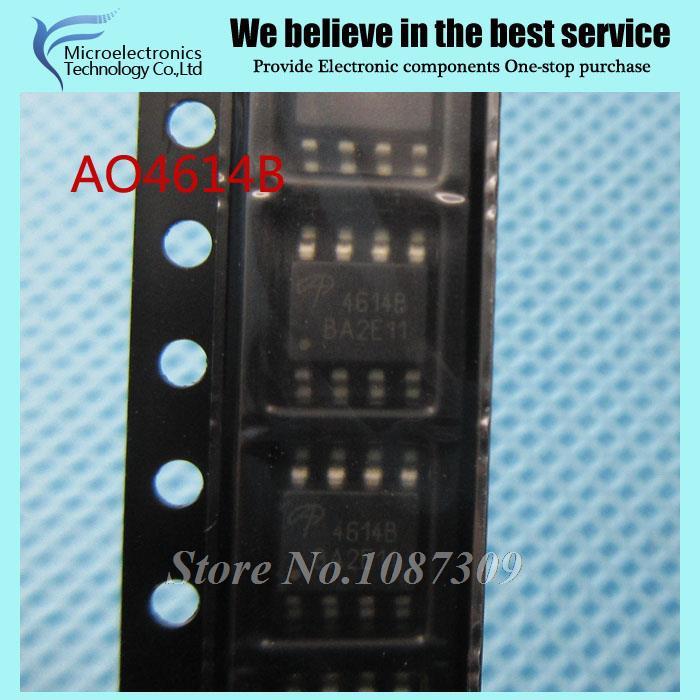 10pcs free shipping AO4614 AO4614B 4614B LCD inverter board chip new original(China (Mainland))