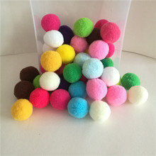 Buy 30Pcs 30mm Mix Mulit Color Pompom Fur Craft DIY Soft Pom Poms Balls Wedding Home Decoration Flowers Sewing Cloth Accessories for $1.22 in AliExpress store