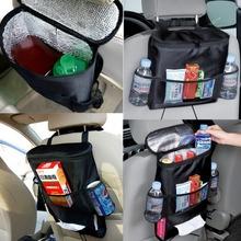 new Car Cooler Bag Seat Organizer Multi Pocket Arrangement Bag Back Seat Chair Car Styling car Seat Cover Organiser
