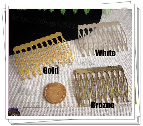 40*53MM 50PCS (Nickel/Gold/Bronze) Metal Hair Comb Claw Hairpins DIY Jewelry Findings&Components hair accessories(China (Mainland))