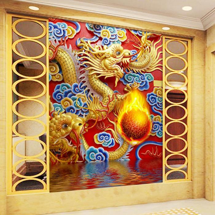 Online kopen wholesale chinese draak kunst aan de muur uit china chinese draak kunst aan de muur - Entree schilderij ...