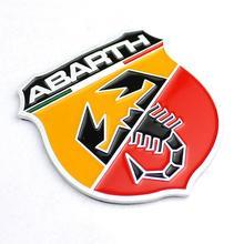 Hot 3D 3M Car Abarth AR Metal Adhesive Badge Emblem logo Decal Sticker character scorpion Fiat 124/125/125/500 - Xinsheng Store store