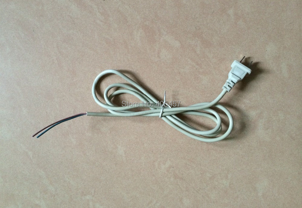 Parts Of An Extension Cord : Pieces of flat plug pin power cord white cores