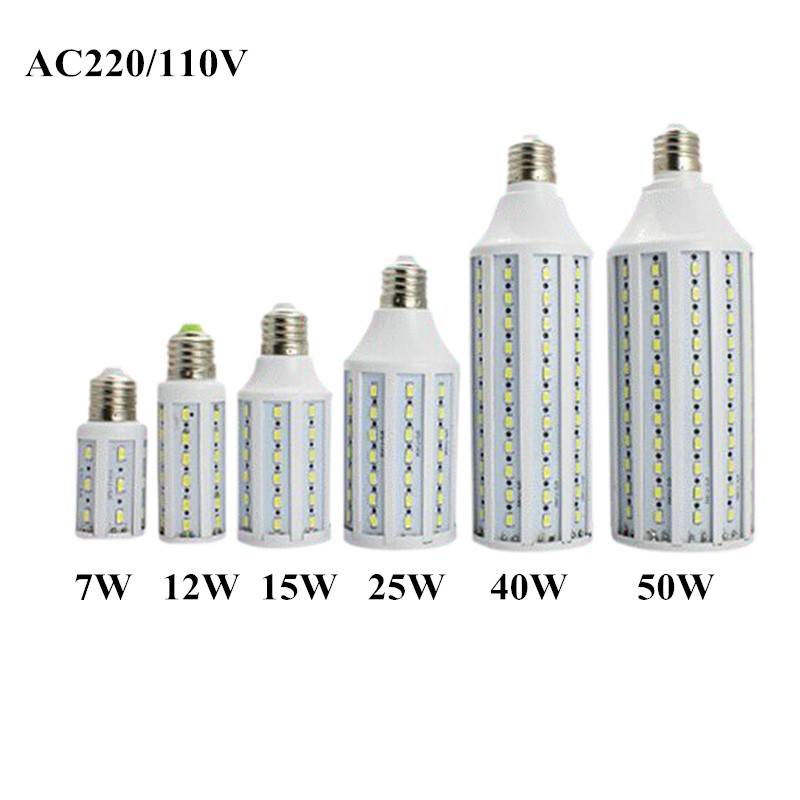1pcs 7W 12W 15W 25W 30W 40W 50W E27 E14 B22 220V/110V Light SMD5630 5730 42 60 86 98 132 LED Corn Bulb Lamp sunlights(China (Mainland))