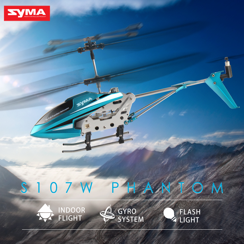 Syma S107W Indoor Remote Control Helicopter Alloy Anti-crash 3CH Electric RC Aircraft Manufacturer Direct Sale Kid Toys(China (Mainland))