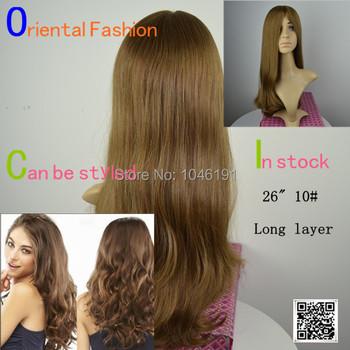 Orthodox Luxury 26 inch 10# 100% Mongolian virgiin hair blonde Jewish Kosher shaitel wig