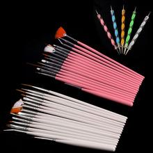 2014 Good Sales 20PCS Makeup Brush Nail Art Design Dotting Painting Drawing Polish Brush Pen Tools Tonsee