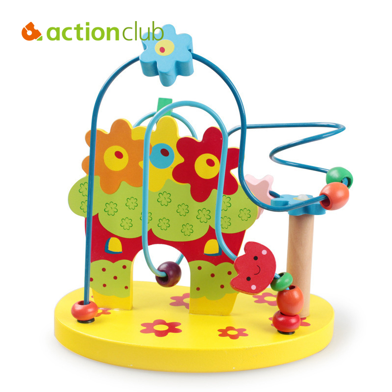 1PC NEW HOT Baby Wooden Toy Mini Around Flower Building Toys Colorful Educational Game Children Toys Christmas Gifts HT2856  <br><br>Aliexpress