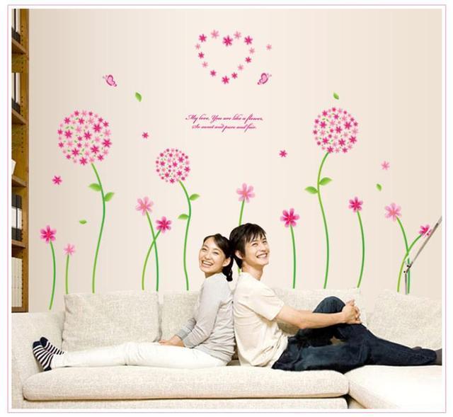 Мода одуванчик романтика украшения наклейки домашнего декора наклейки плакат свадебные украшения