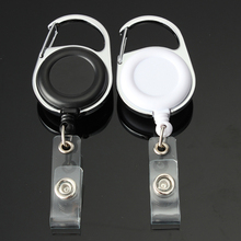 20Retractable Pull Key Ring Chain Reel ID Lanyard Name Tag Card Badge Holder Recoil Belt Clip - HK Technology Co.,Ltd store