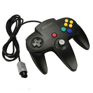 Black Wired Original Interface Joystick Video Game Controller For Nintendo N64 (200cm-Cable)(China (Mainland))