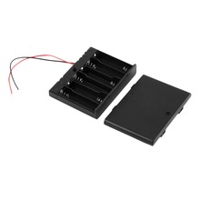 Plastic AA Batteries Storage Case Box Holder ON/OFF Swith Wire Leads 6 * 2A Battery Black Digital Hot - Shopping In Lisa's Store store