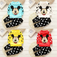 2016 New baby clothes, boys and girls baby cartoon, suitable for children's leisure long sleeved suit
