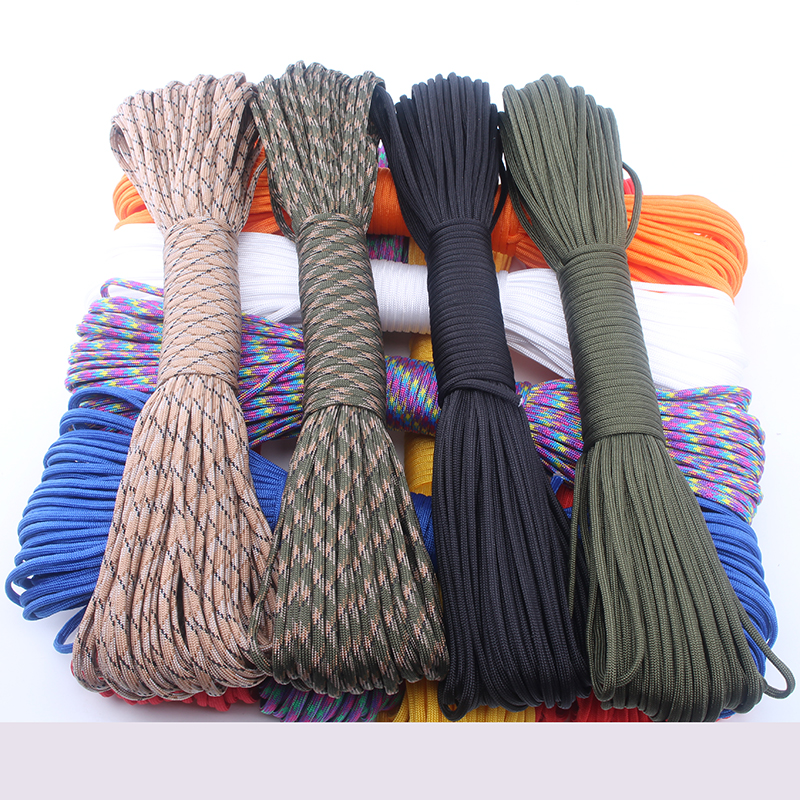 Random Send 50FT,25FT Paracord 550 Rope Type III 7 Stand Paracord Parachute Cord Outdoor Camping Equipment Wholesale paracord(China (Mainland))