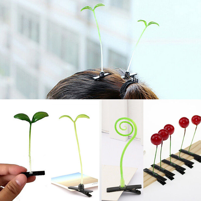 4 Shapes Lovely Plant Fruit Hair Clips Novetly Mini Girls Men Women Hairpins Travel Makeup Hair Claw Clip Accessories #01(China (Mainland))