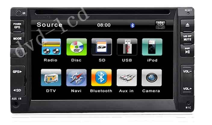 """Double din 2 din 6.5"""" two din car dvd player with HD TFT LCD bluetooth GPS Navigation for wholesale(China (Mainland))"""
