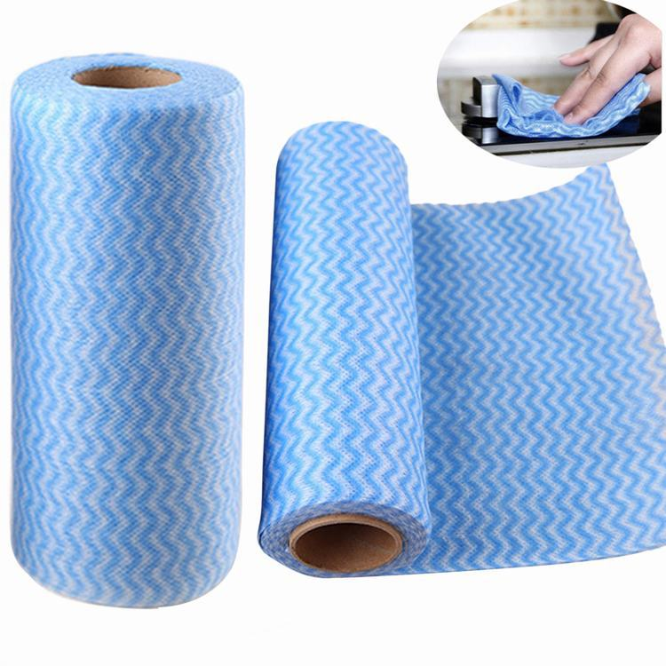 Roll of 50Pcs Multipurpose Non-woven Fabric Nonstick Wiping Rags House Cleaning Cloth Kitchen Dish Dishcloth(China (Mainland))