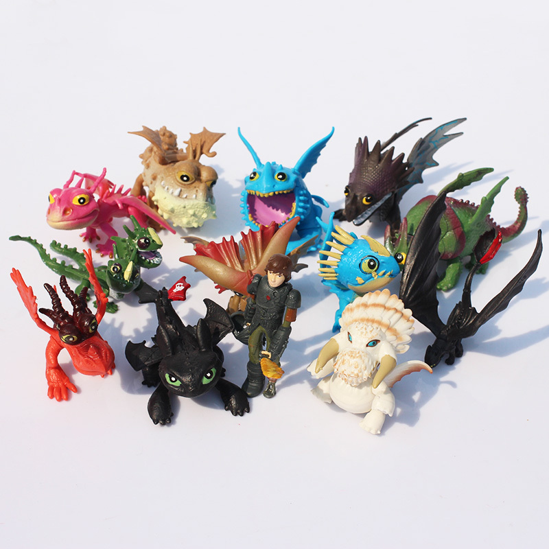 1Set 13pcs/set 5~7cm How to Train Your Dragon 2 Night Fury Toothless Dragon PVC Action Figures Christmas Gifts Free Shipping(China (Mainland))