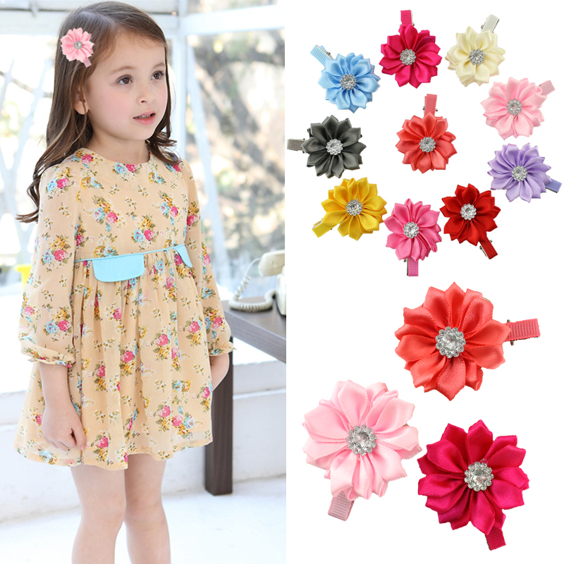 6pcs/lot Hot sale baby girl lovely flower hairpins kids hair clips children hair accessories(China (Mainland))